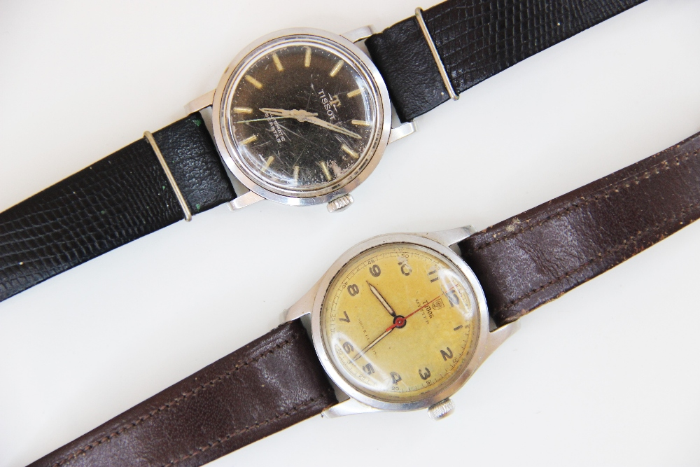 A Gentleman's vintage Tudor Oyster 'Shock Resisting' wristwatch, the round gold-toned dial with