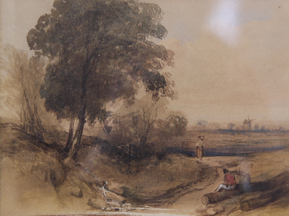 Follower of Peter De Wint (1784-1849), 'Near Lincoln', Watercolour on paper, Unsigned, 27cm x 43. - Image 2 of 9
