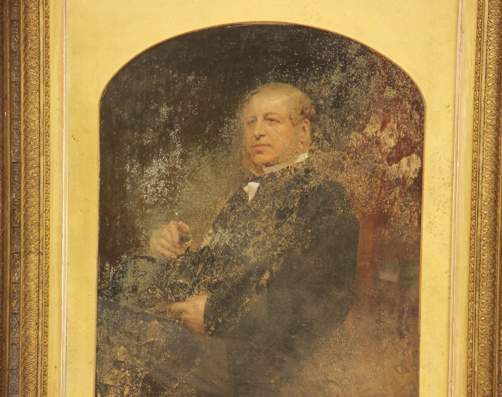 Edward Taylor (late 19th century), Portrait of Lloyd Kenyon, Head and shoulders seated wearing a - Image 2 of 4
