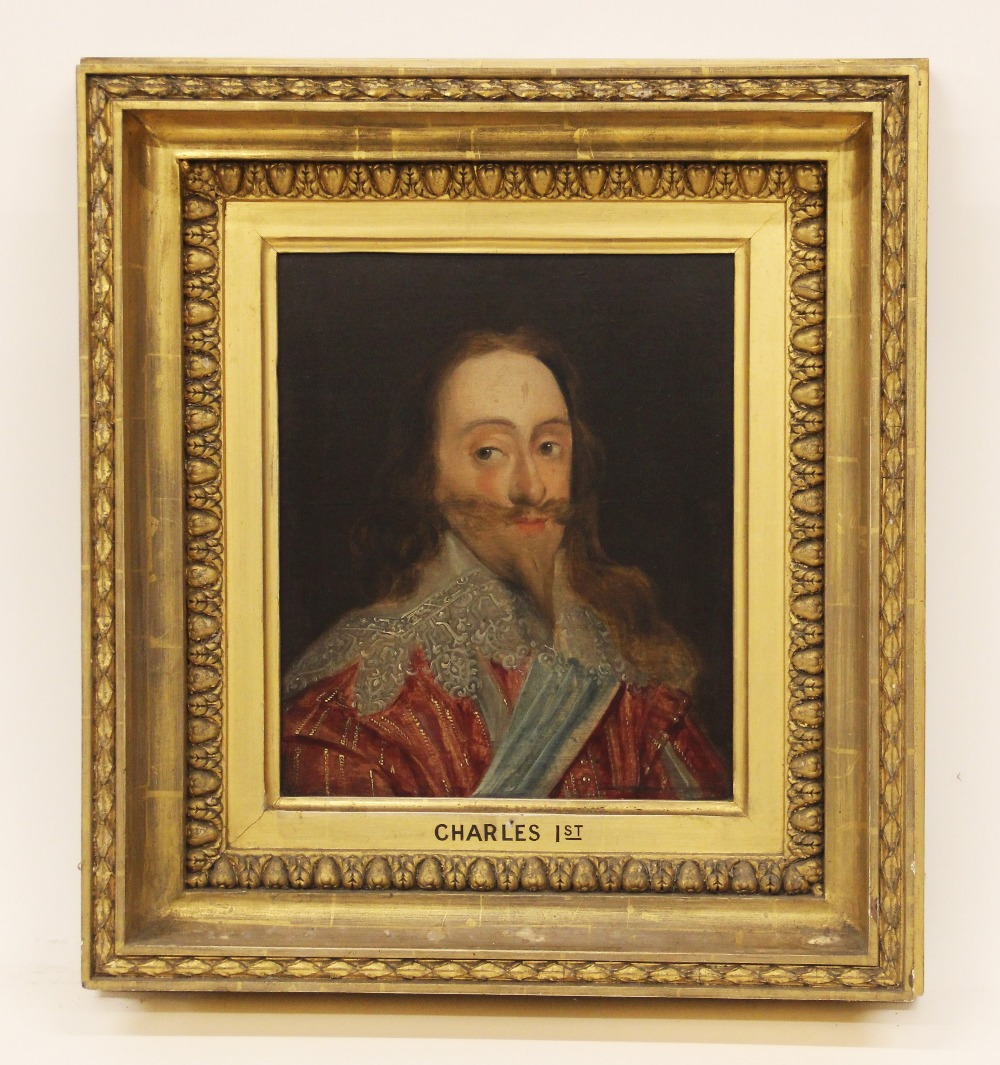 Manner of Daniel Mytens (1590-1647), Portrait of Charles I Head and shoulders wearing a lace - Image 2 of 10