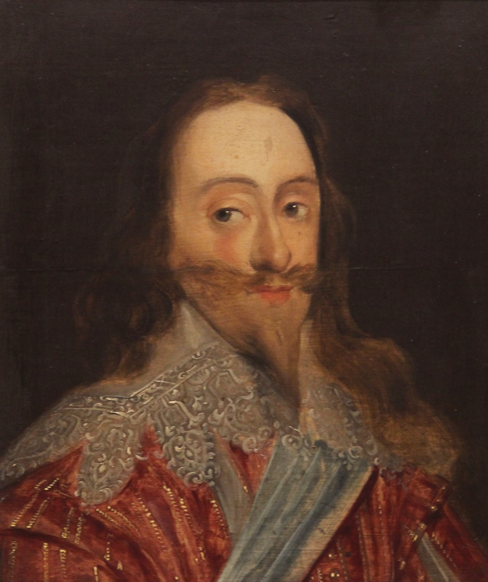 Manner of Daniel Mytens (1590-1647), Portrait of Charles I Head and shoulders wearing a lace