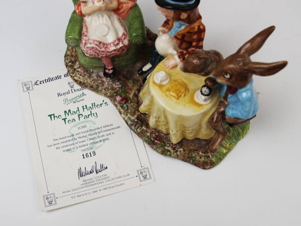 A Beswick 'The Mad Hatter's Tea Party' figural group, with a Royal Doulton Wind In The Willows - Image 3 of 4