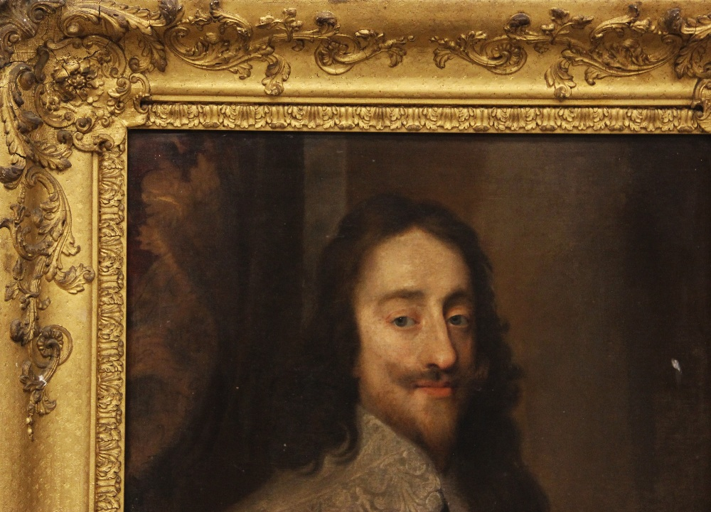 Follower of Sir Antony Van Dyck (1599-1641), Portrait of Charles I, Head and shoulders, with lace - Image 2 of 22