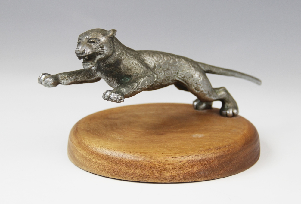 A cast metal car mascot, early 20th century, probably by Desmo, naturalistically modelled as a - Image 3 of 3