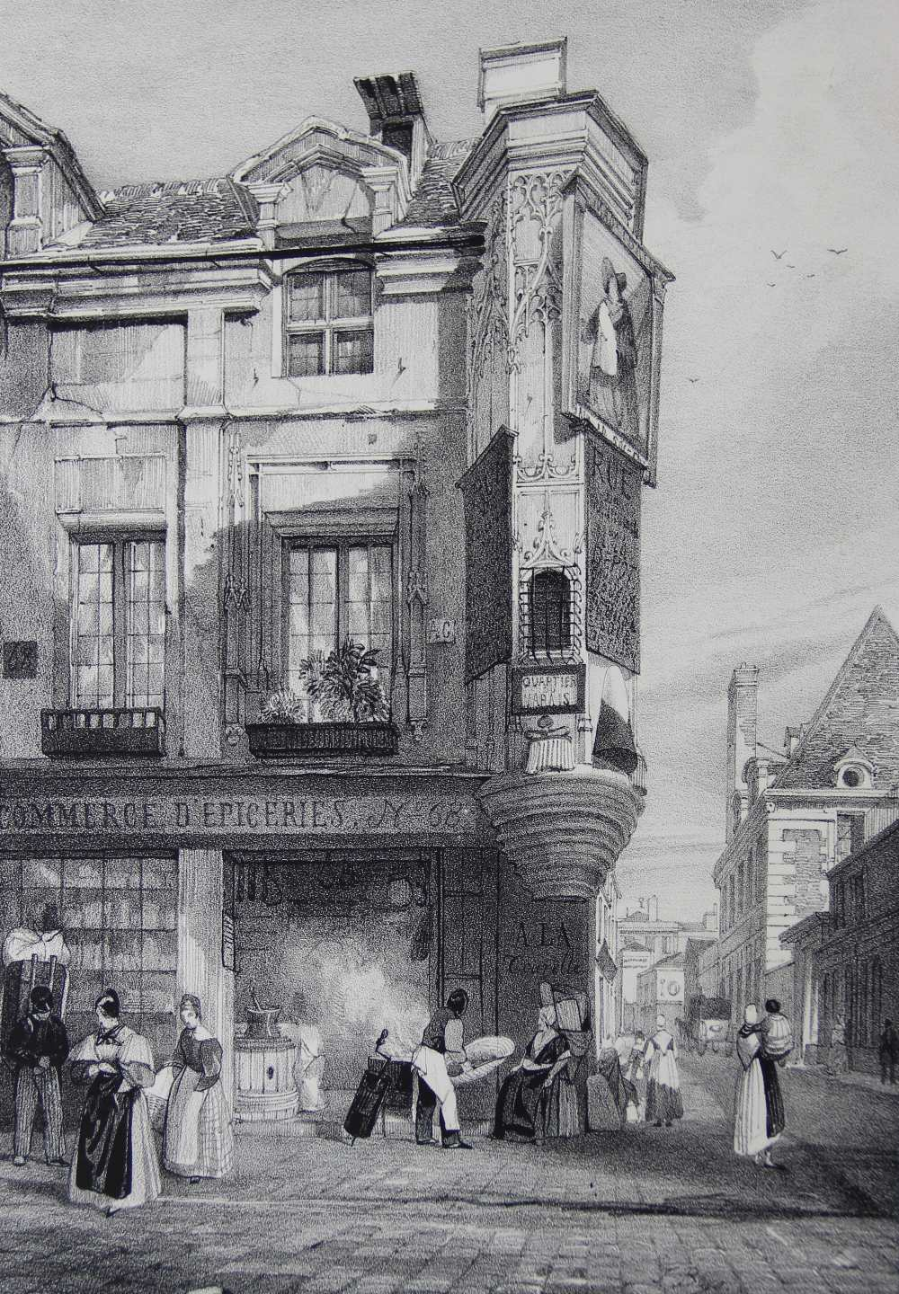 After Thomas Shotter Boys (1803-1874), Eight views of French cities, comprising: 'The Porch Of - Image 8 of 30