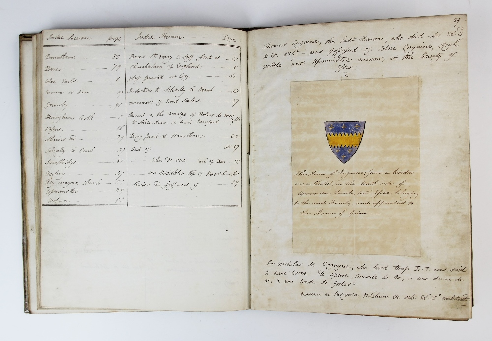 A COLLECTION OF DRAWINGS OF ARMORIAL BEARINGS, FROM PAINTED GLASS, ANCIENT SEALS ETC TOGETHER WITH - Image 10 of 13