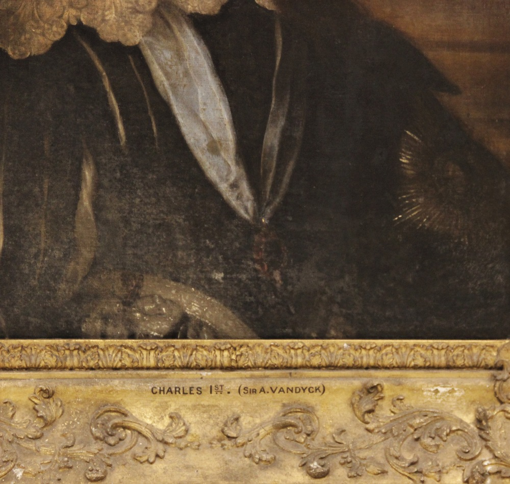Follower of Sir Antony Van Dyck (1599-1641), Portrait of Charles I, Head and shoulders, with lace - Image 3 of 22