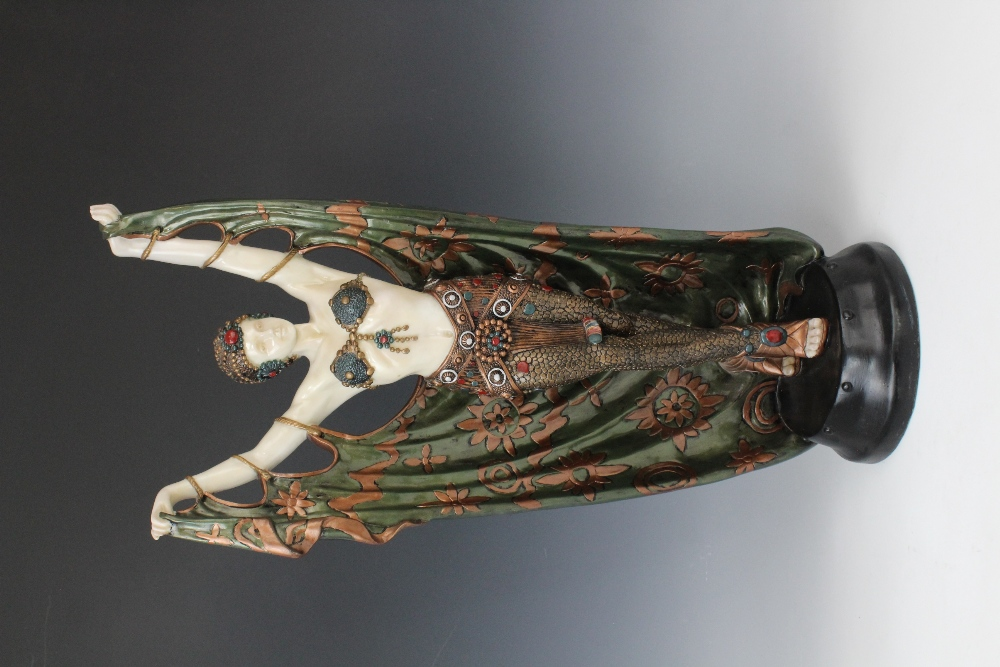 A pair of composite Art Deco style faux chryselephantine figures, late 20th century, modelled in the - Image 4 of 4