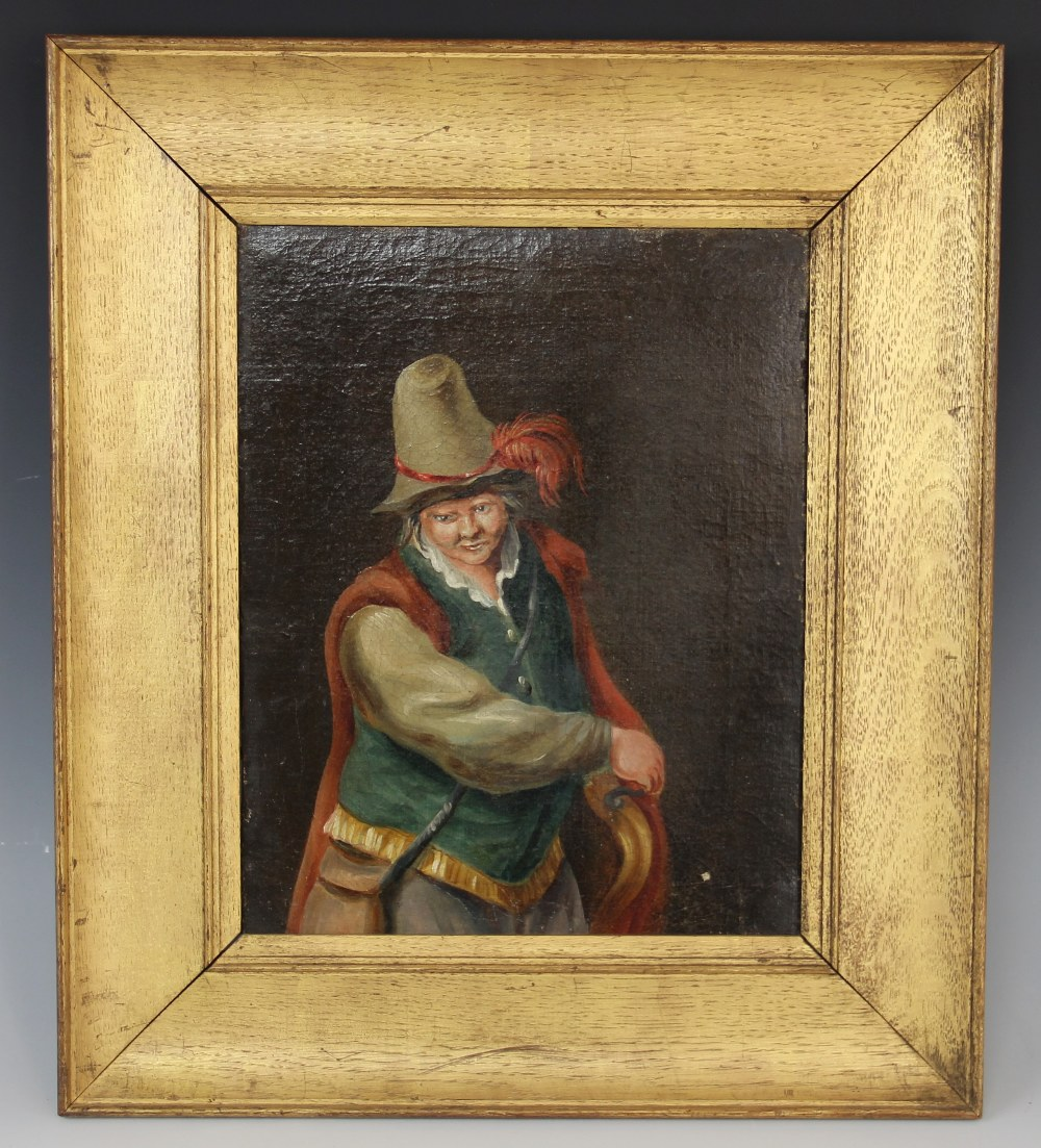 Follower of Teniers The Younger (1610-1690), A 19th century half length portrait of a cavalier,