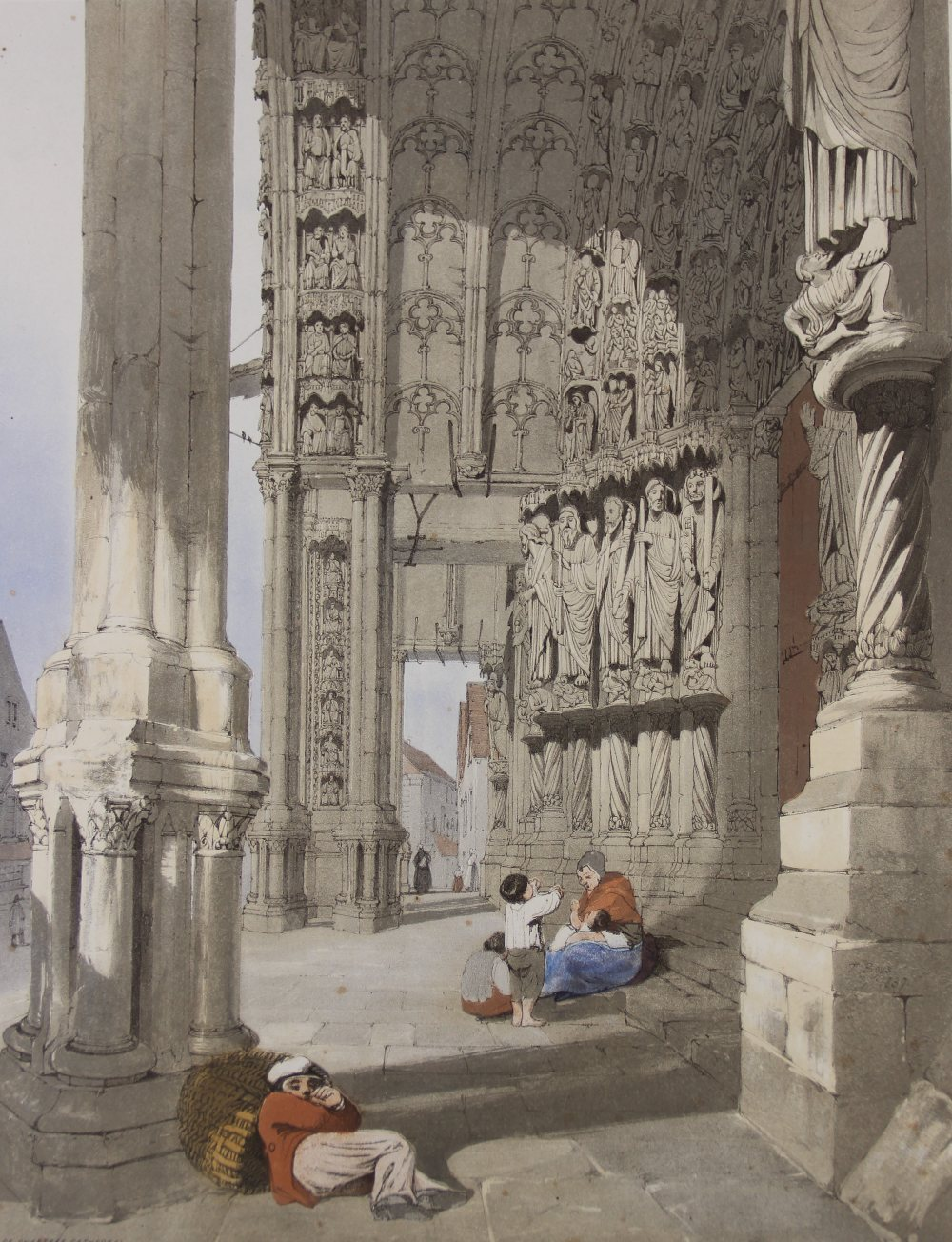 After Thomas Shotter Boys (1803-1874), Eight views of French cities, comprising: 'The Porch Of - Image 4 of 30