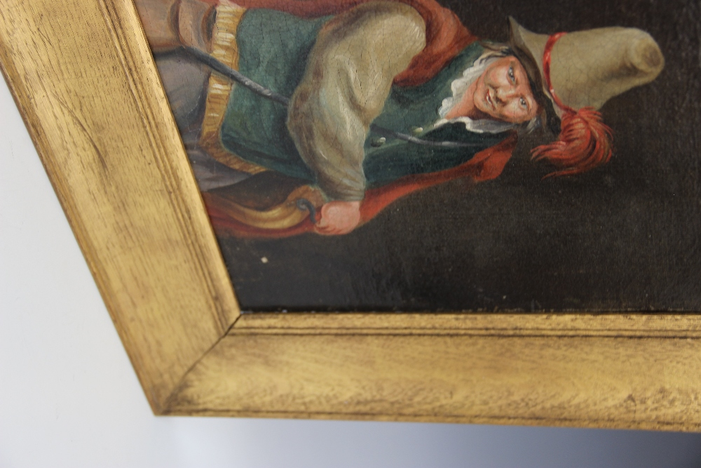 Follower of Teniers The Younger (1610-1690), A 19th century half length portrait of a cavalier, - Image 3 of 3