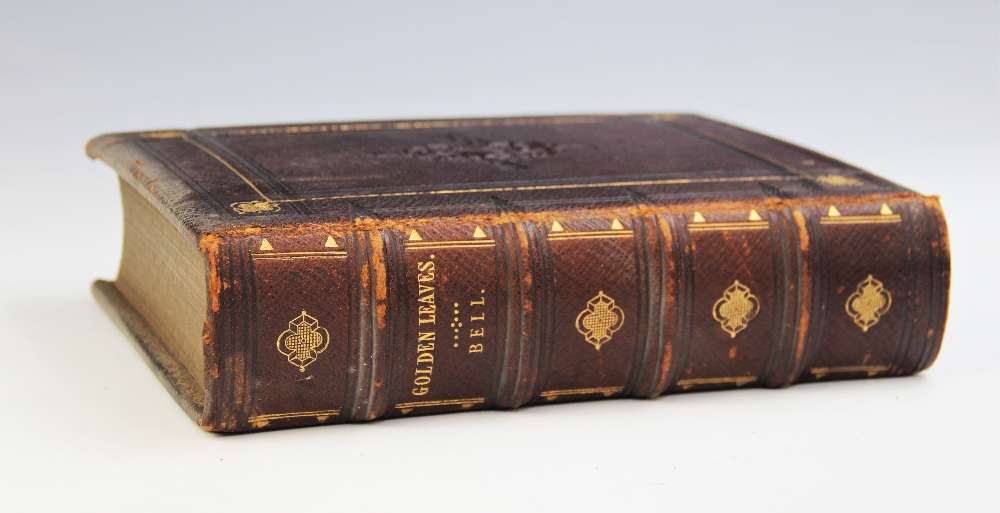 Bell (R), GOLDEN LEAVES FROM THE WORKS OF THE POETS AND PAINTERS, first edition, full leather, - Image 3 of 9