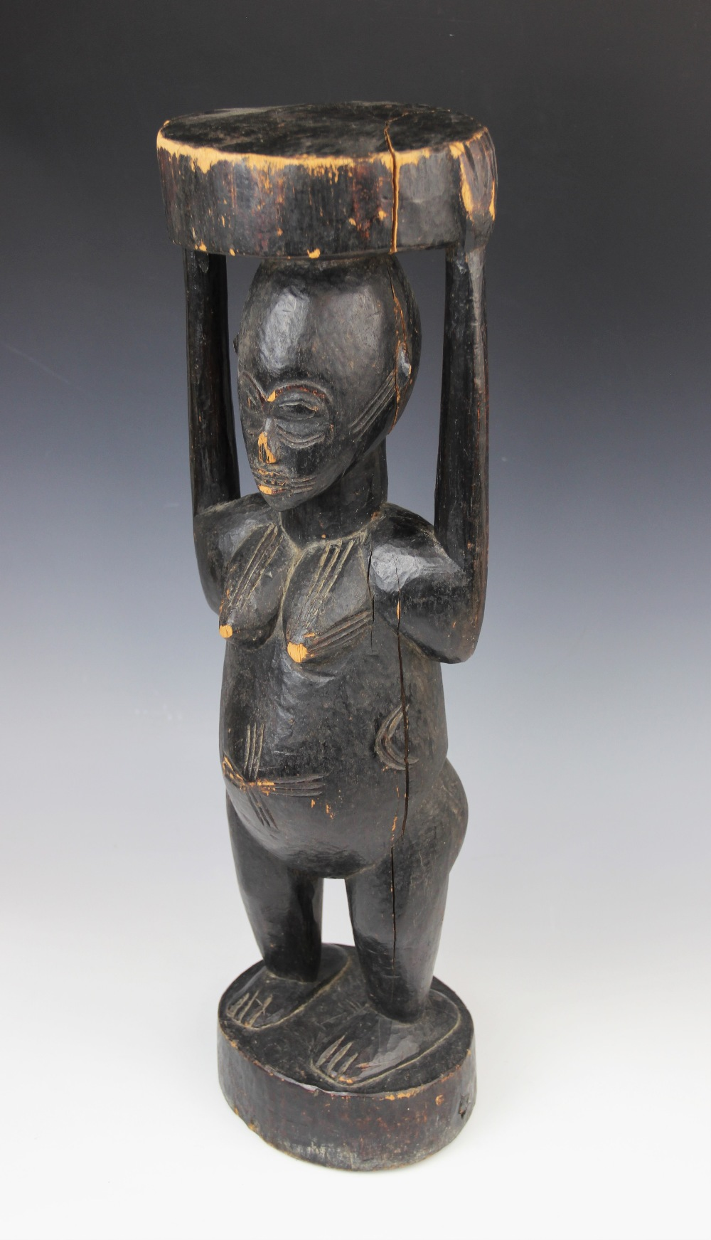 A large West African Senufo Ivory Coast female figure, 56cm high