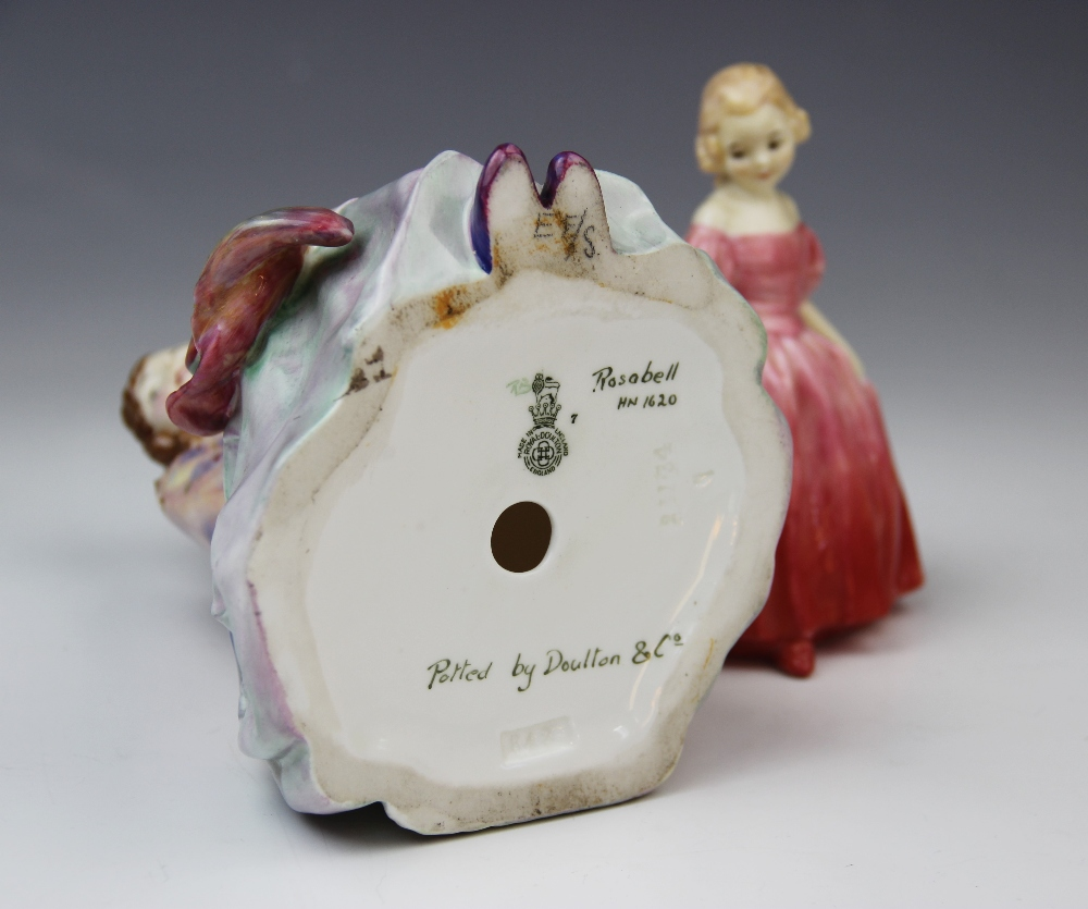 A Royal Doulton HN1620 'Rosabell' figurine, printed maker's mark with painted model name, number and - Image 2 of 3