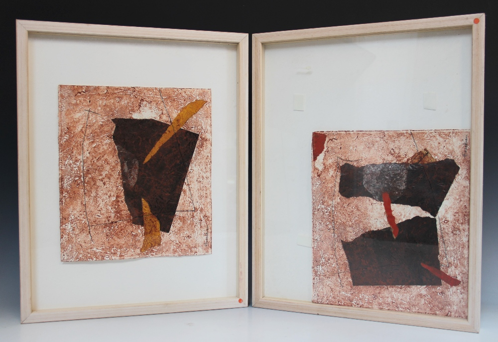 Peggy Hinaekian (American school, 20th century), 'Tree Brulee I' and 'Tree Brulee II', A pair of