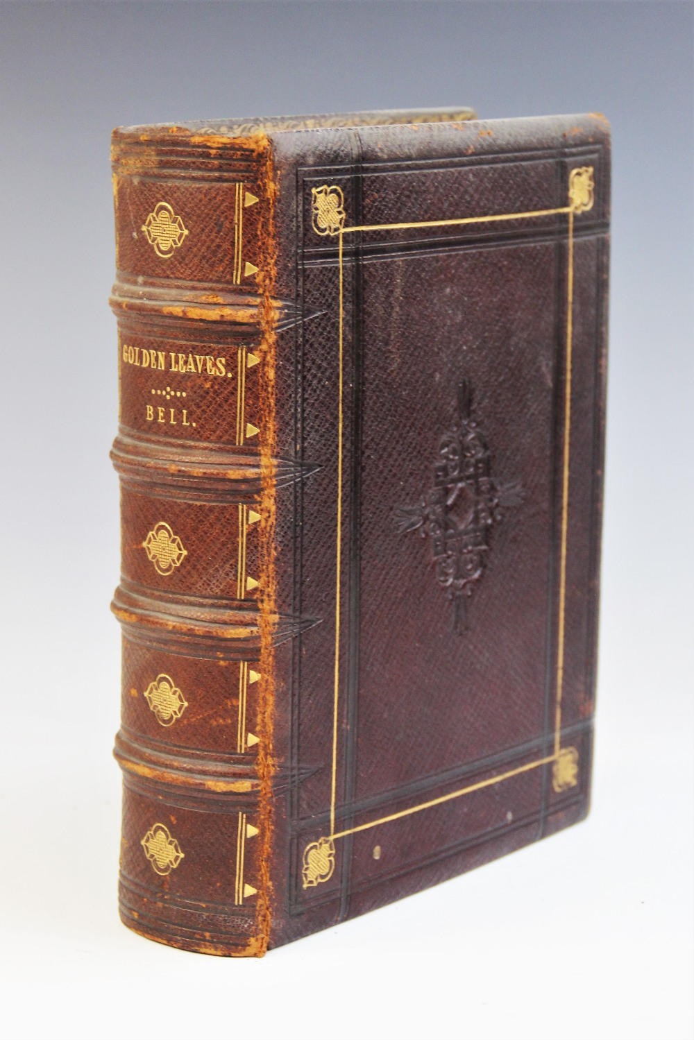 Bell (R), GOLDEN LEAVES FROM THE WORKS OF THE POETS AND PAINTERS, first edition, full leather,