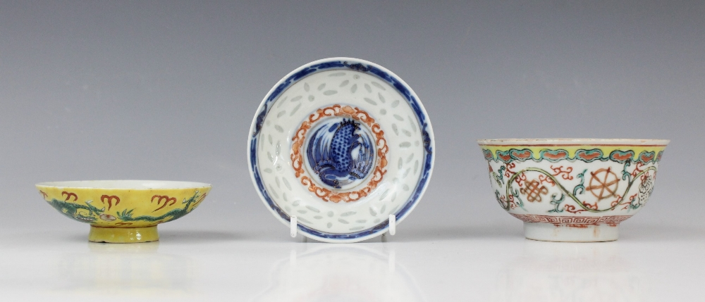 A selection of Asian works of art, 19th century and later, comprising; a Japanese cloisonné and - Image 3 of 3