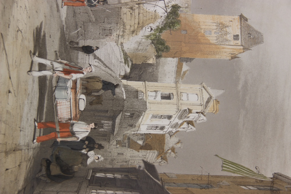 After Thomas Shotter Boys (1803-1874), Eight views of French cities, comprising: 'The Porch Of - Image 6 of 30