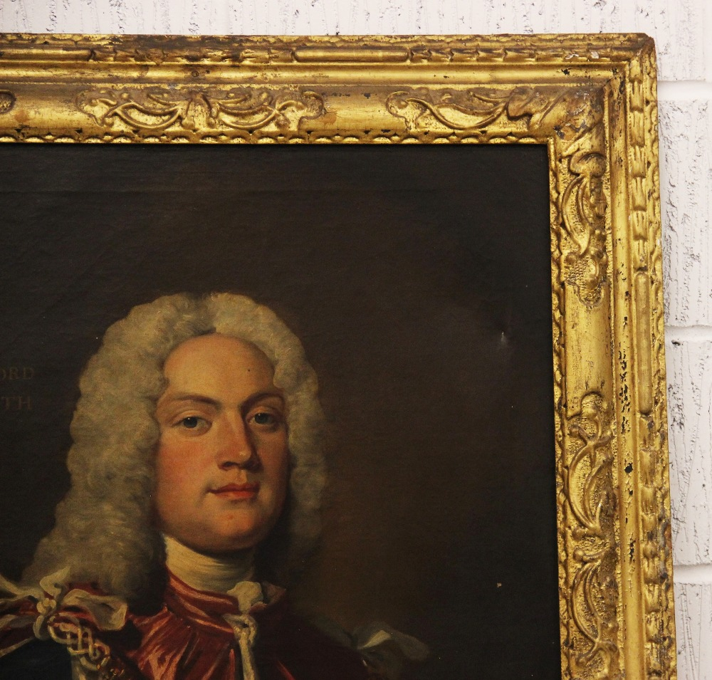 English school, early 18th century, Portrait of Charles Lord Witworth, Head and shoulders wearing - Image 3 of 5
