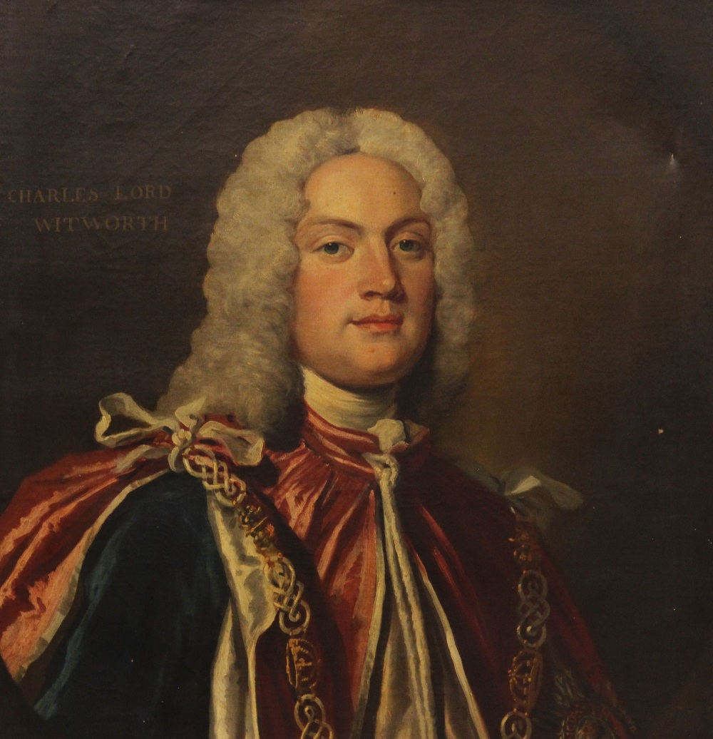English school, early 18th century, Portrait of Charles Lord Witworth, Head and shoulders wearing - Image 2 of 5