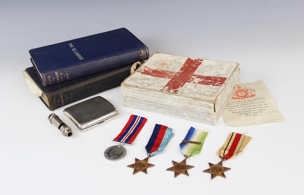 A World War II quartet to Huw Heddwyn Griffith R.N., comprising: the War Medal 1939-45, the 1939- - Image 2 of 2