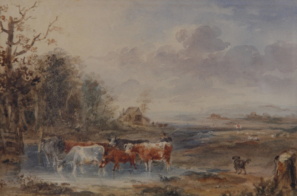 Follower of Peter De Wint (1784-1849), 'Near Lincoln', Watercolour on paper, Unsigned, 27cm x 43. - Image 7 of 9