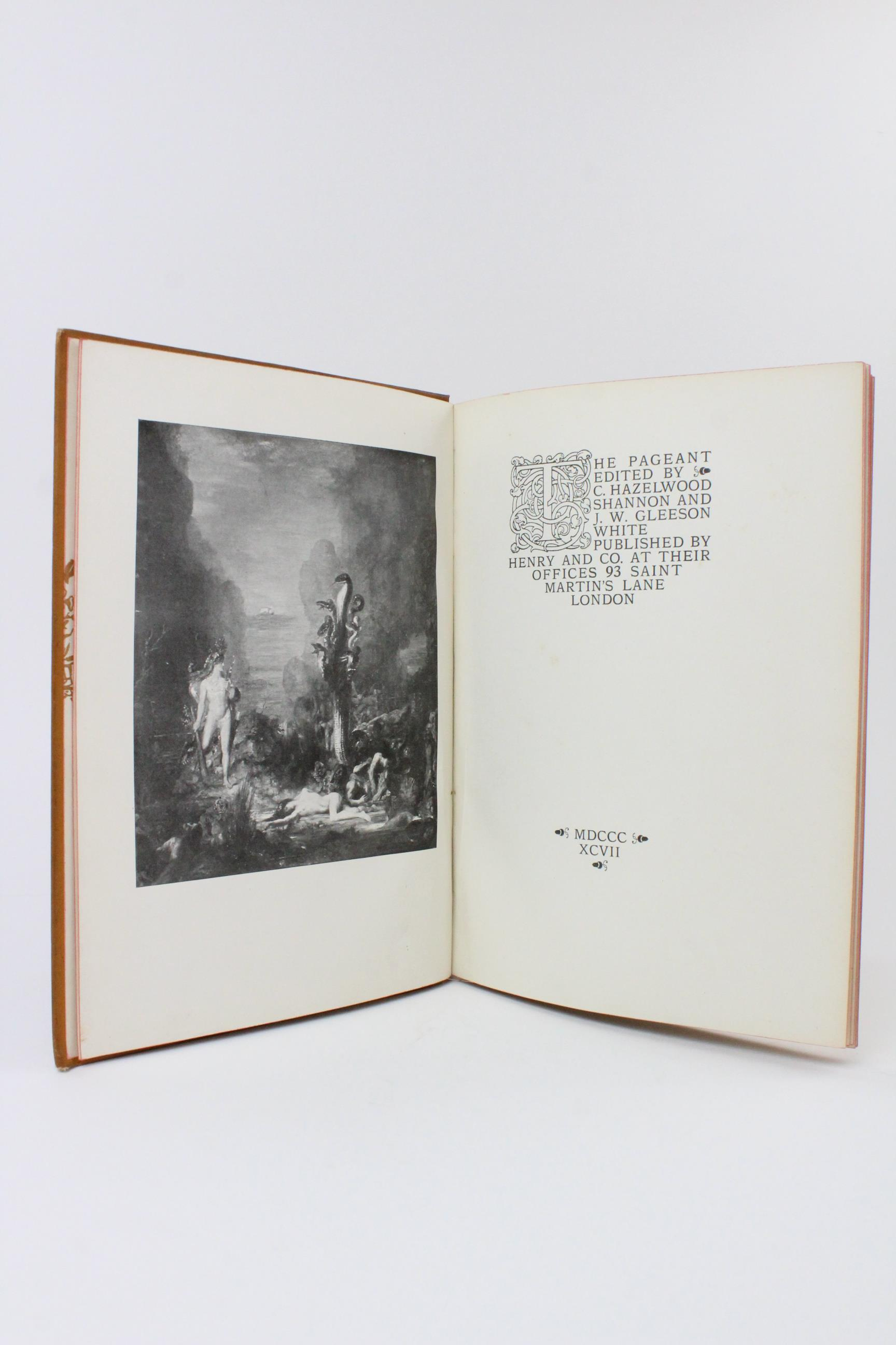 Hazelwood (C) et al, THE PAGEANT, 1897 edition, illustrated red boards, illustrated endpapers, - Image 2 of 16