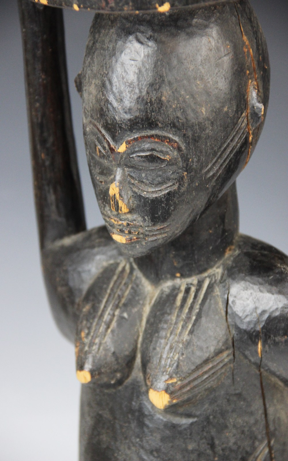 A large West African Senufo Ivory Coast female figure, 56cm high - Image 2 of 4