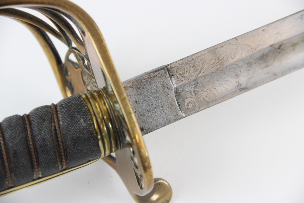 A Victorian 1845 pattern Infantry officer?s sword by Smith & Son, the 81.5cm single edged fullered - Image 7 of 10