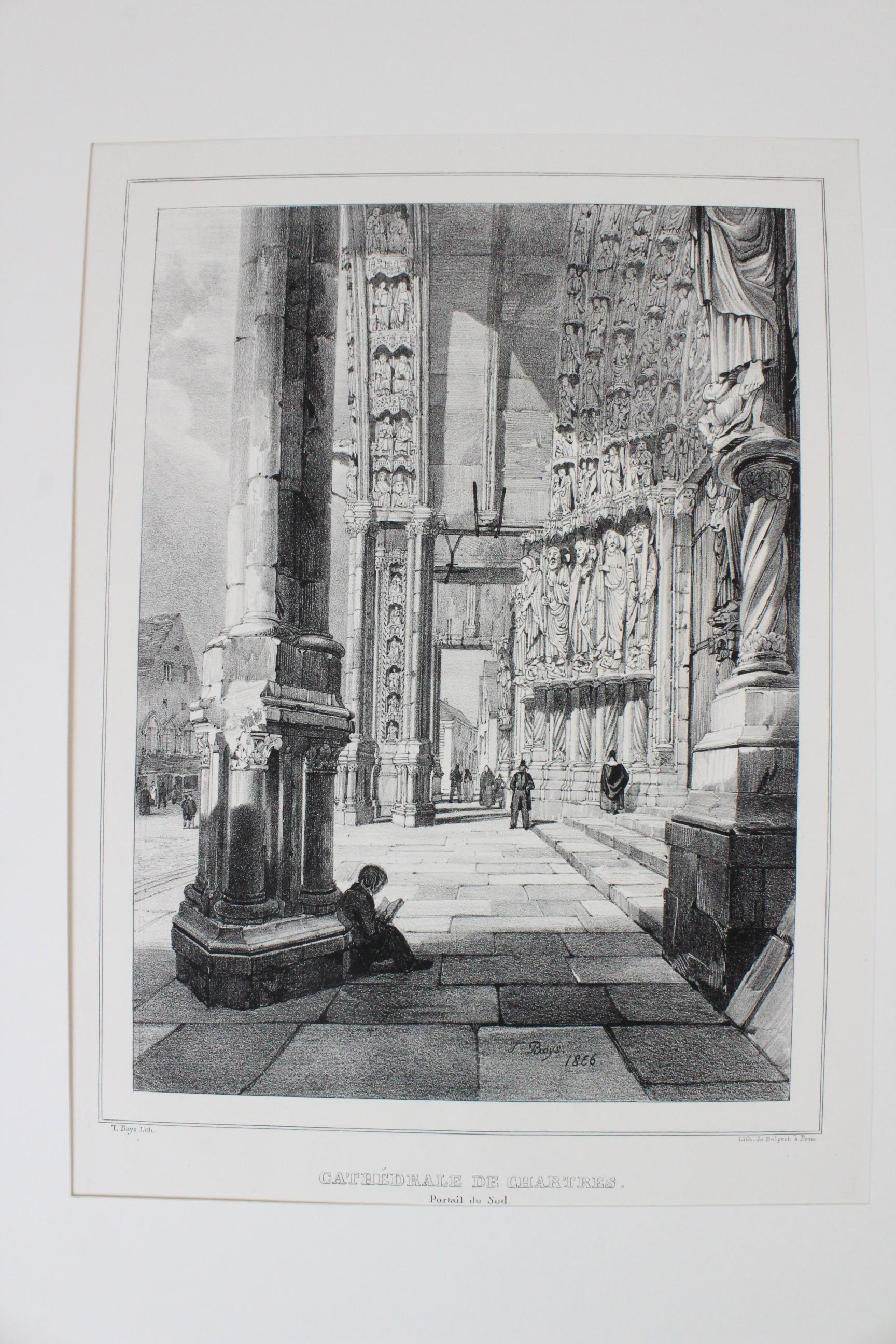 After Thomas Shotter Boys (1803-1874), Eight views of French cities, comprising: 'The Porch Of - Image 16 of 30