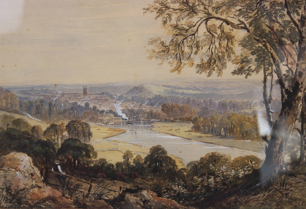 Follower of Peter De Wint (1784-1849), 'Near Lincoln', Watercolour on paper, Unsigned, 27cm x 43. - Image 6 of 9