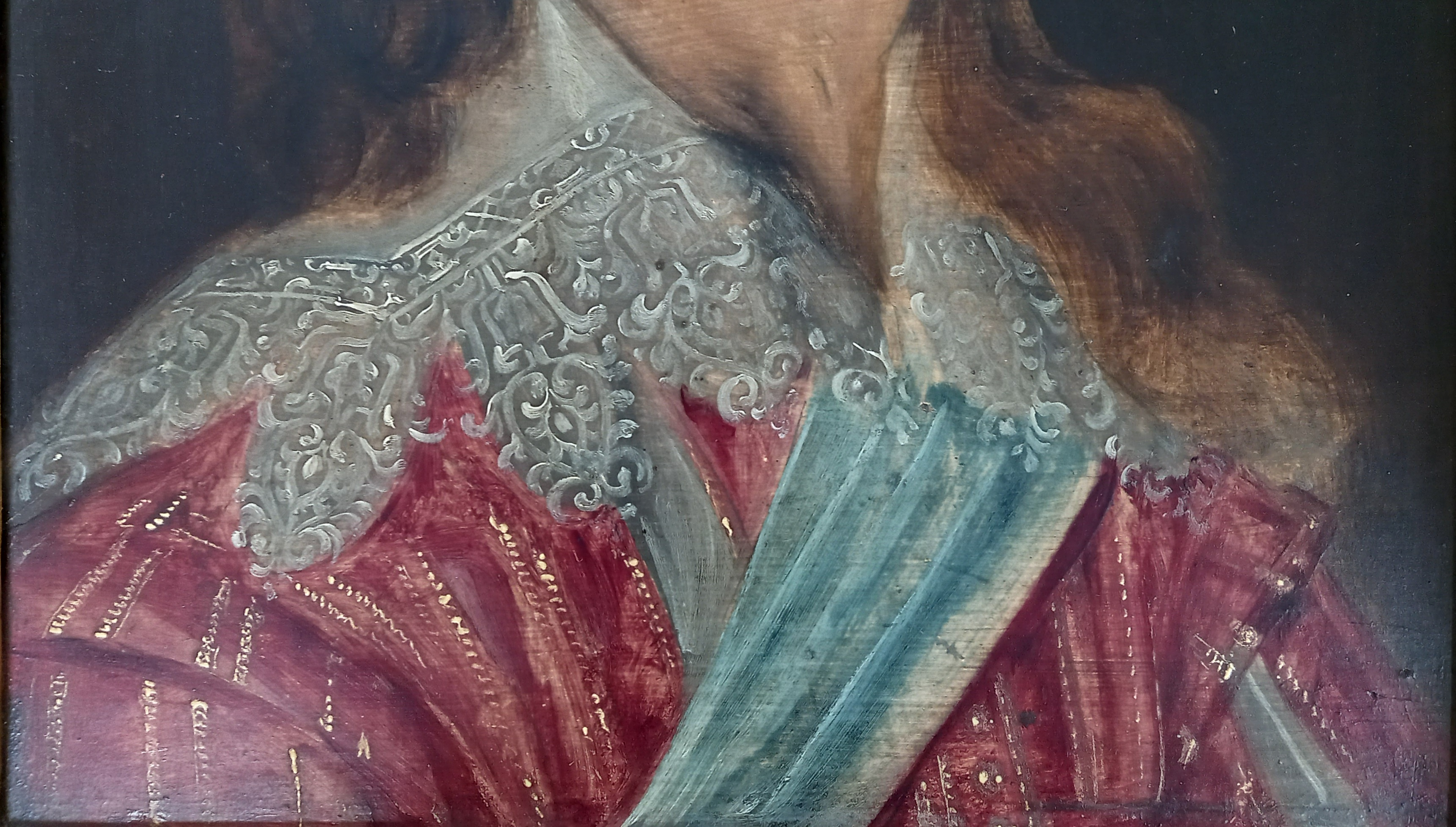 Manner of Daniel Mytens (1590-1647), Portrait of Charles I Head and shoulders wearing a lace - Image 5 of 10