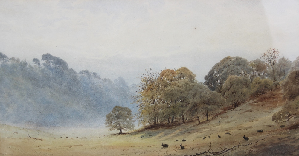 Follower of Peter De Wint (1784-1849), 'Near Lincoln', Watercolour on paper, Unsigned, 27cm x 43. - Image 4 of 9