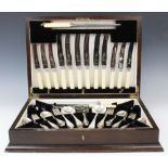 A canteen of silver plated cutlery, 20th century, retailed by Evans and Matthews Ltd of