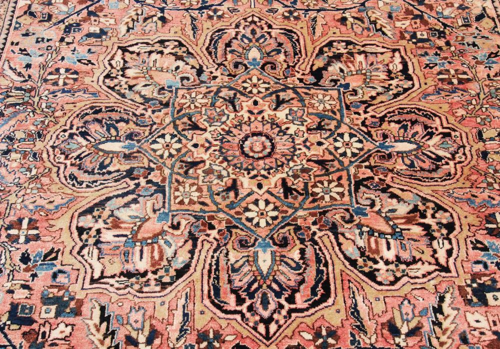 A large Persian Tabriz wool carpet, the central floral medallion engulfed with formal foliate - Image 2 of 3