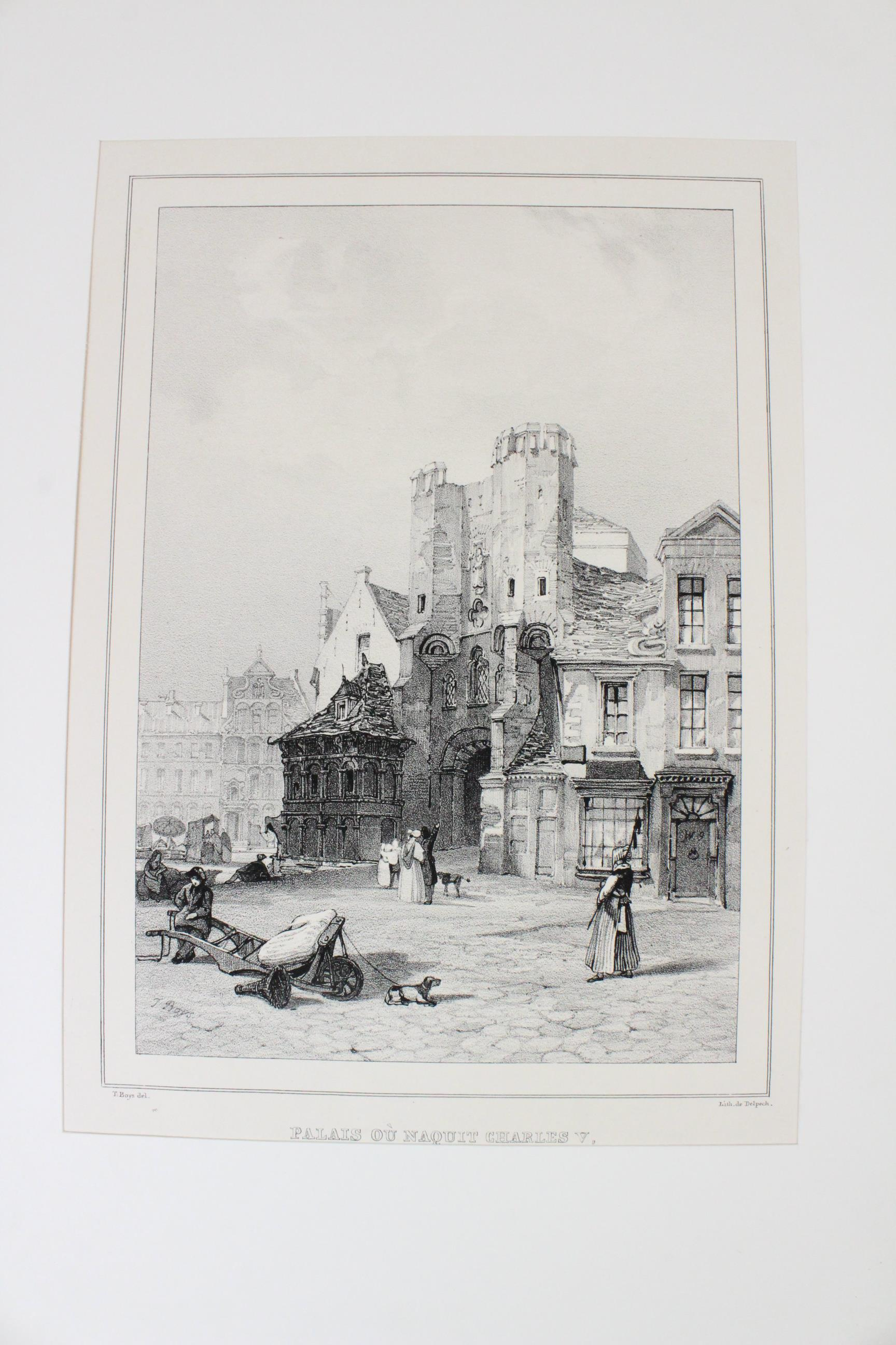 After Thomas Shotter Boys (1803-1874), Eight views of French cities, comprising: 'The Porch Of - Image 17 of 30