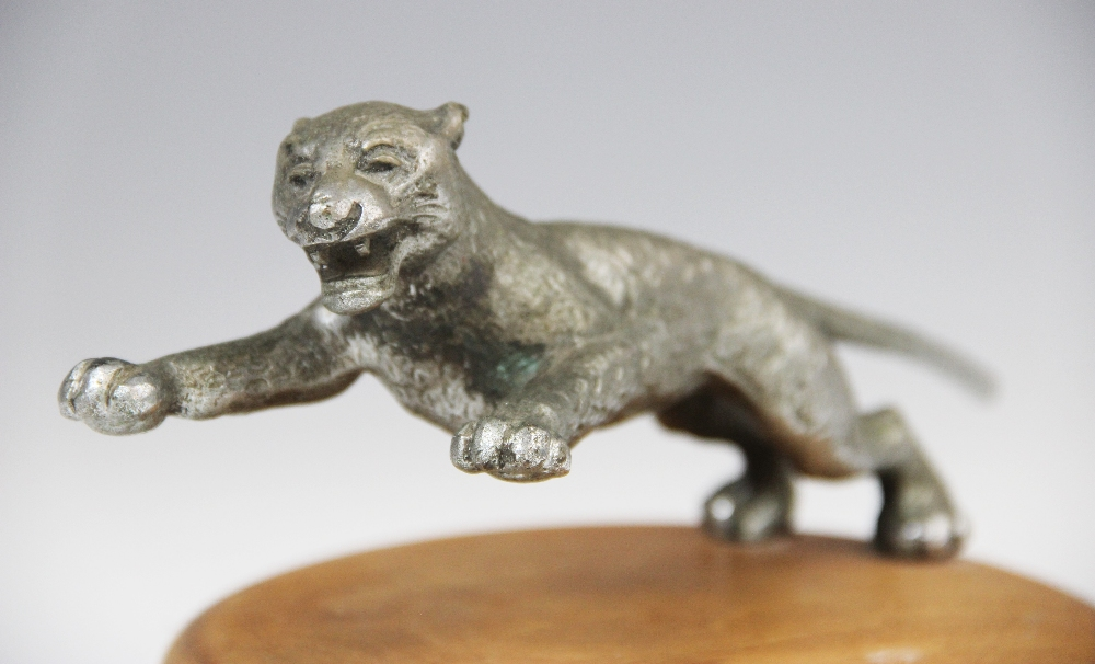 A cast metal car mascot, early 20th century, probably by Desmo, naturalistically modelled as a - Image 2 of 3