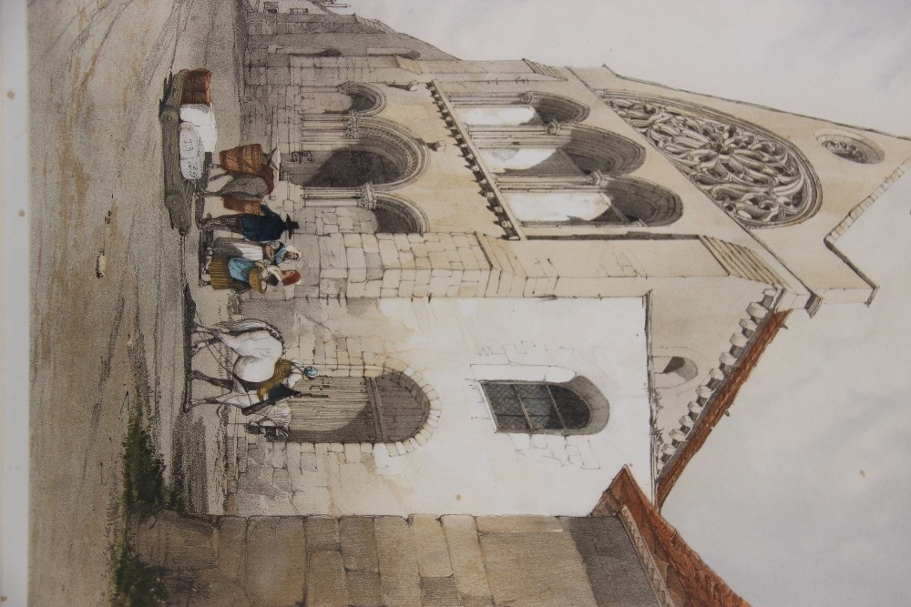 After Thomas Shotter Boys (1803-1874), Eight views of French cities, comprising: 'The Porch Of - Image 5 of 30