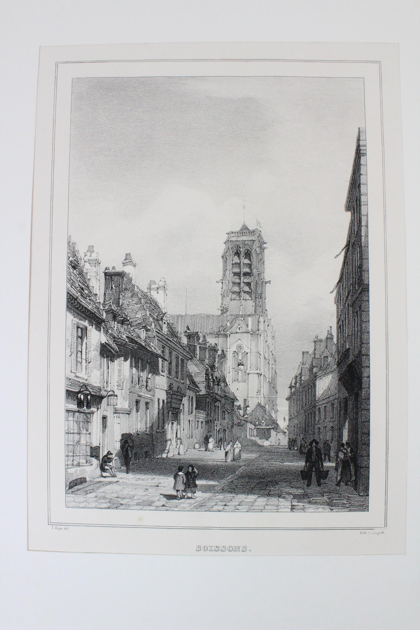 After Thomas Shotter Boys (1803-1874), Eight views of French cities, comprising: 'The Porch Of - Image 19 of 30