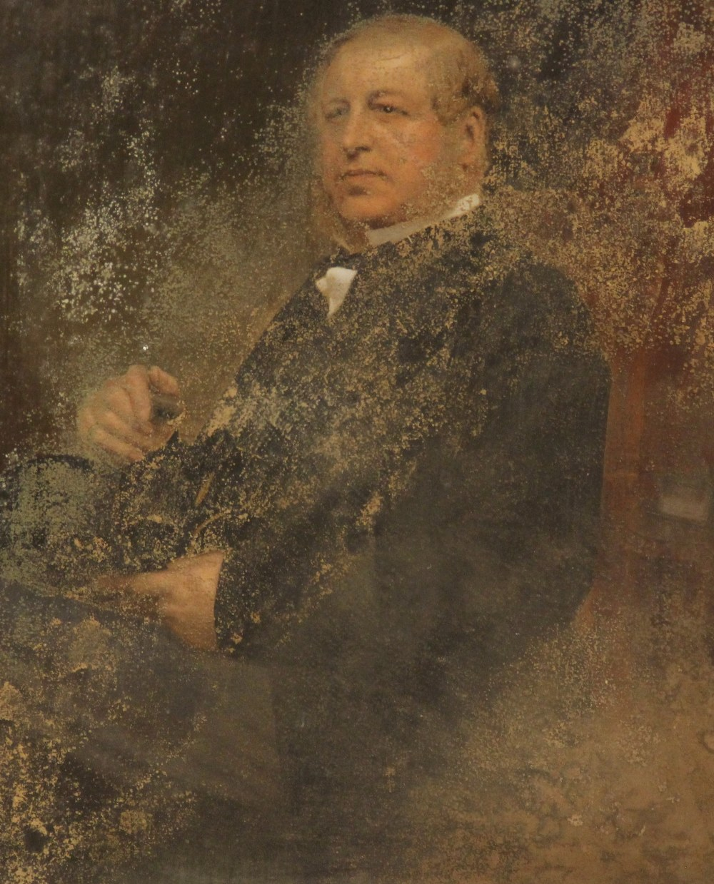 Edward Taylor (late 19th century), Portrait of Lloyd Kenyon, Head and shoulders seated wearing a - Image 3 of 4