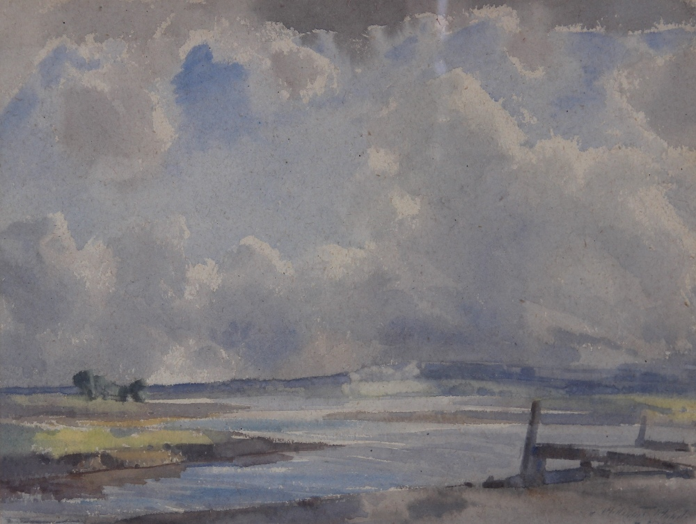 Follower of Peter De Wint (1784-1849), 'Near Lincoln', Watercolour on paper, Unsigned, 27cm x 43. - Image 9 of 9