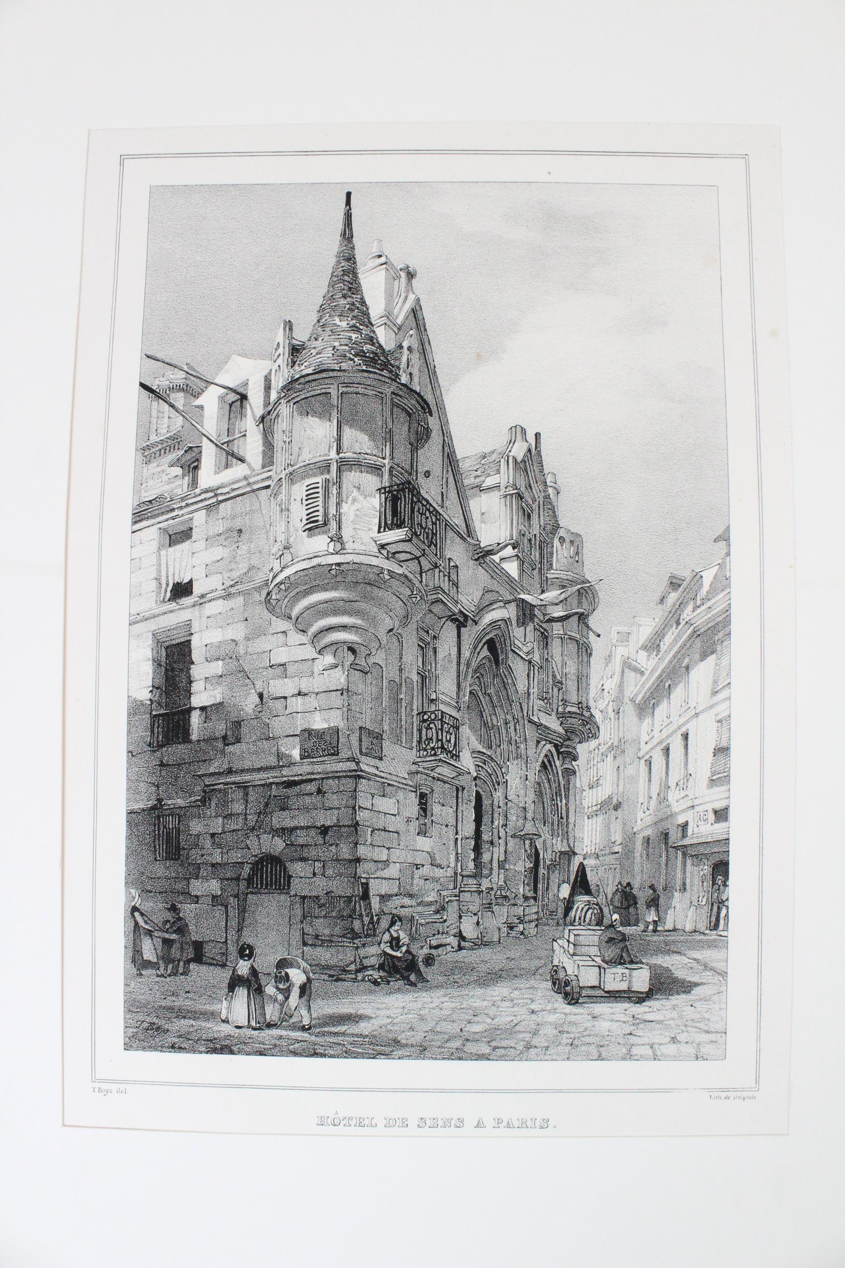 After Thomas Shotter Boys (1803-1874), Eight views of French cities, comprising: 'The Porch Of - Image 18 of 30