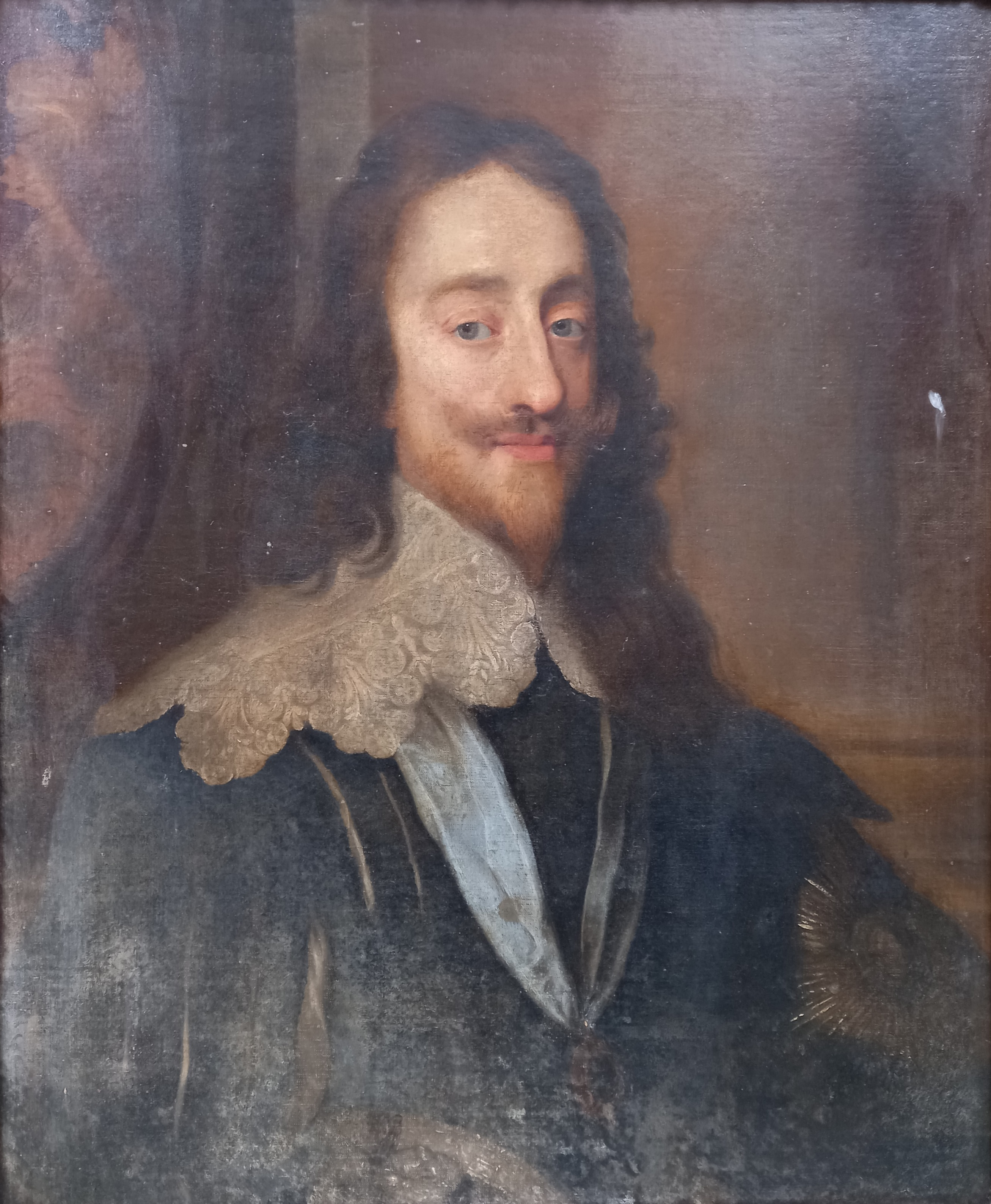 Follower of Sir Antony Van Dyck (1599-1641), Portrait of Charles I, Head and shoulders, with lace - Image 9 of 22