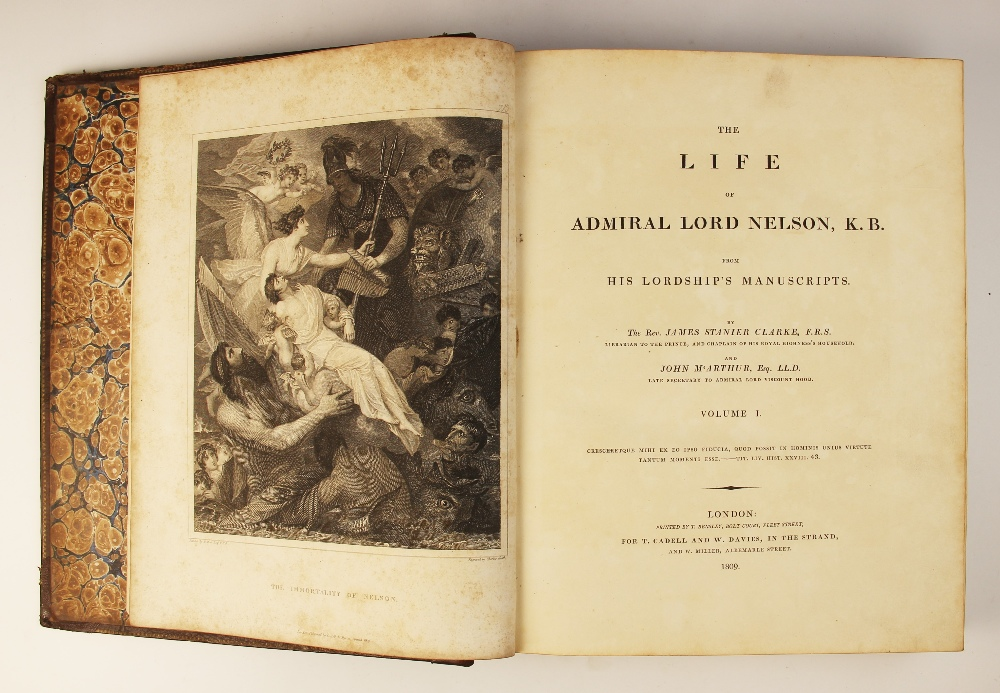 Clarke (J.S.) and McArthur (J), THE LIFE OF ADMIRAL LORD NELSON, K.B. FROM HIS LORDSHIP?S - Image 9 of 14