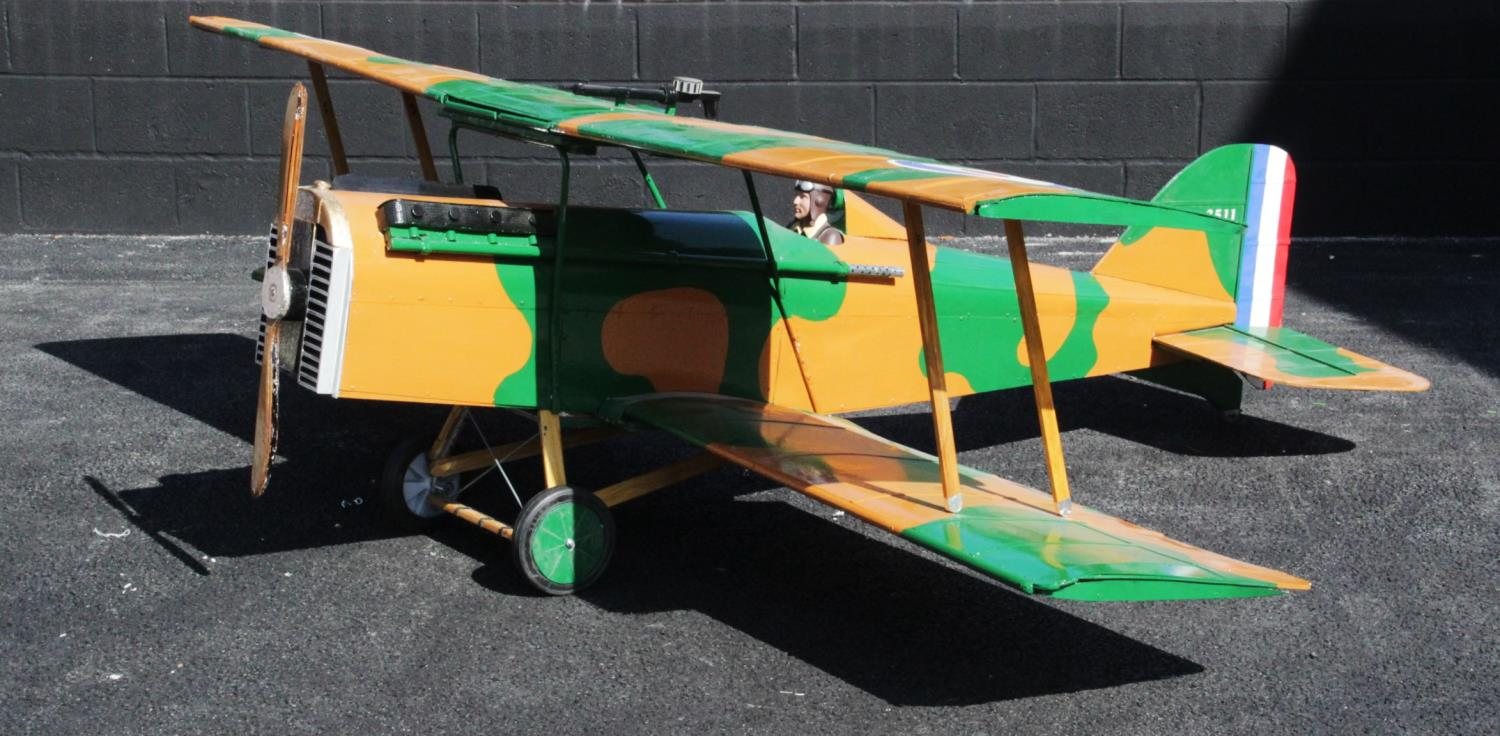 WORLD WAR I INTEREST: A large scratch-built ¼ scale model of a Royal Aircraft Factory SE5a fighter