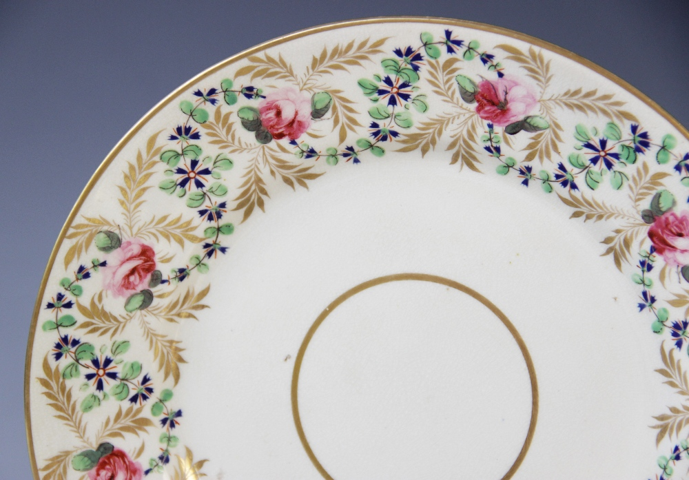 Fifteen Derby florally decorated plates, 19th century, each of circular form and decorated with - Image 2 of 11
