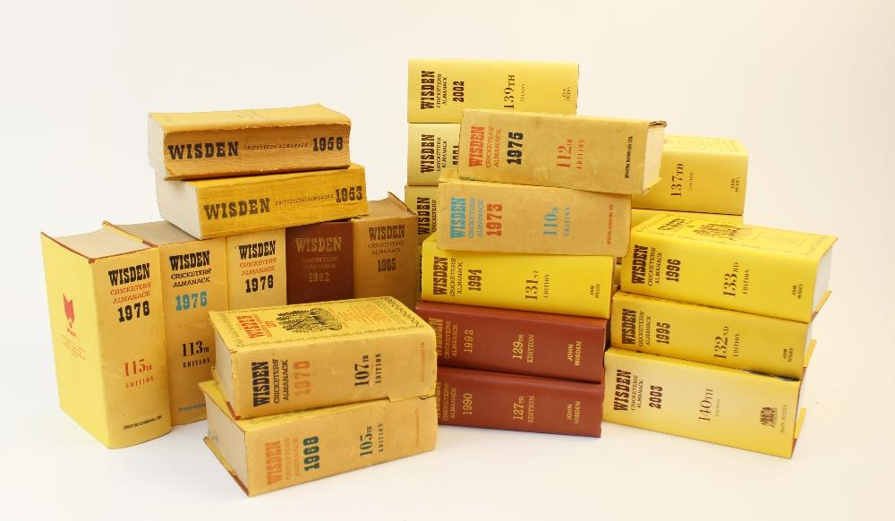 Twenty six volumes of Wisden Cricketer's Almanack, comprising: 1953, 1958, 1968, 1970,1973, 1975, - Image 2 of 2