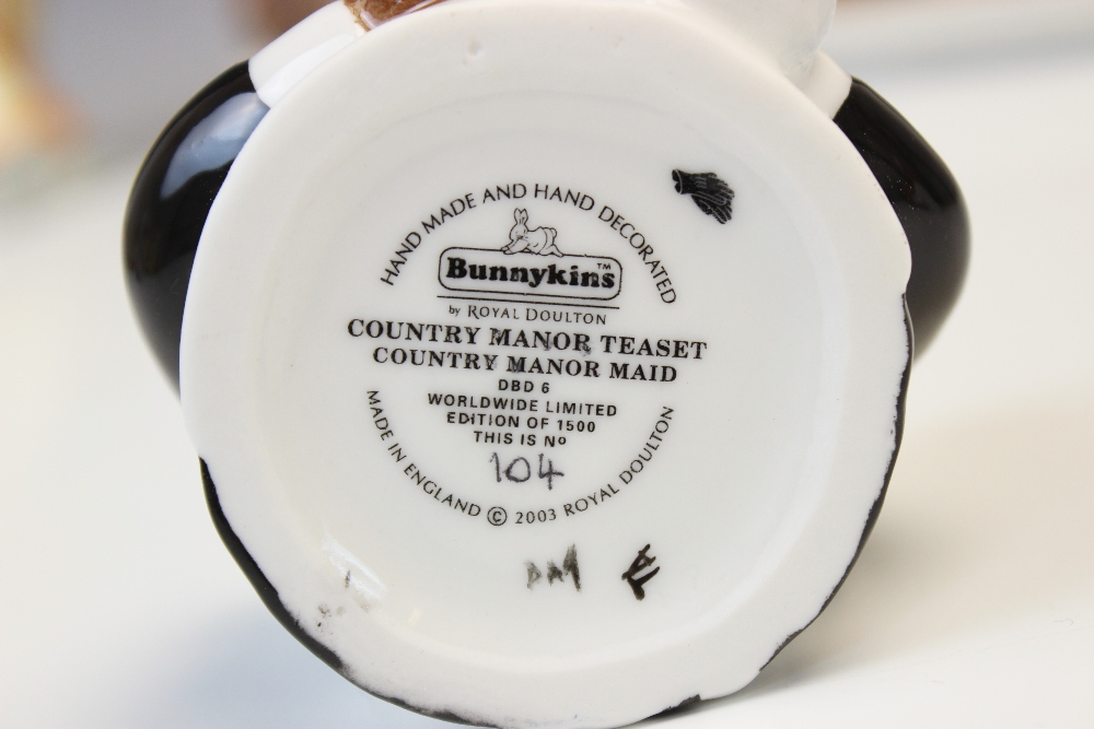 A limited edition Royal Doulton 'Bunnykins Country Manor Teaset', comprising: a 'Lady Of The Manor - Image 3 of 4