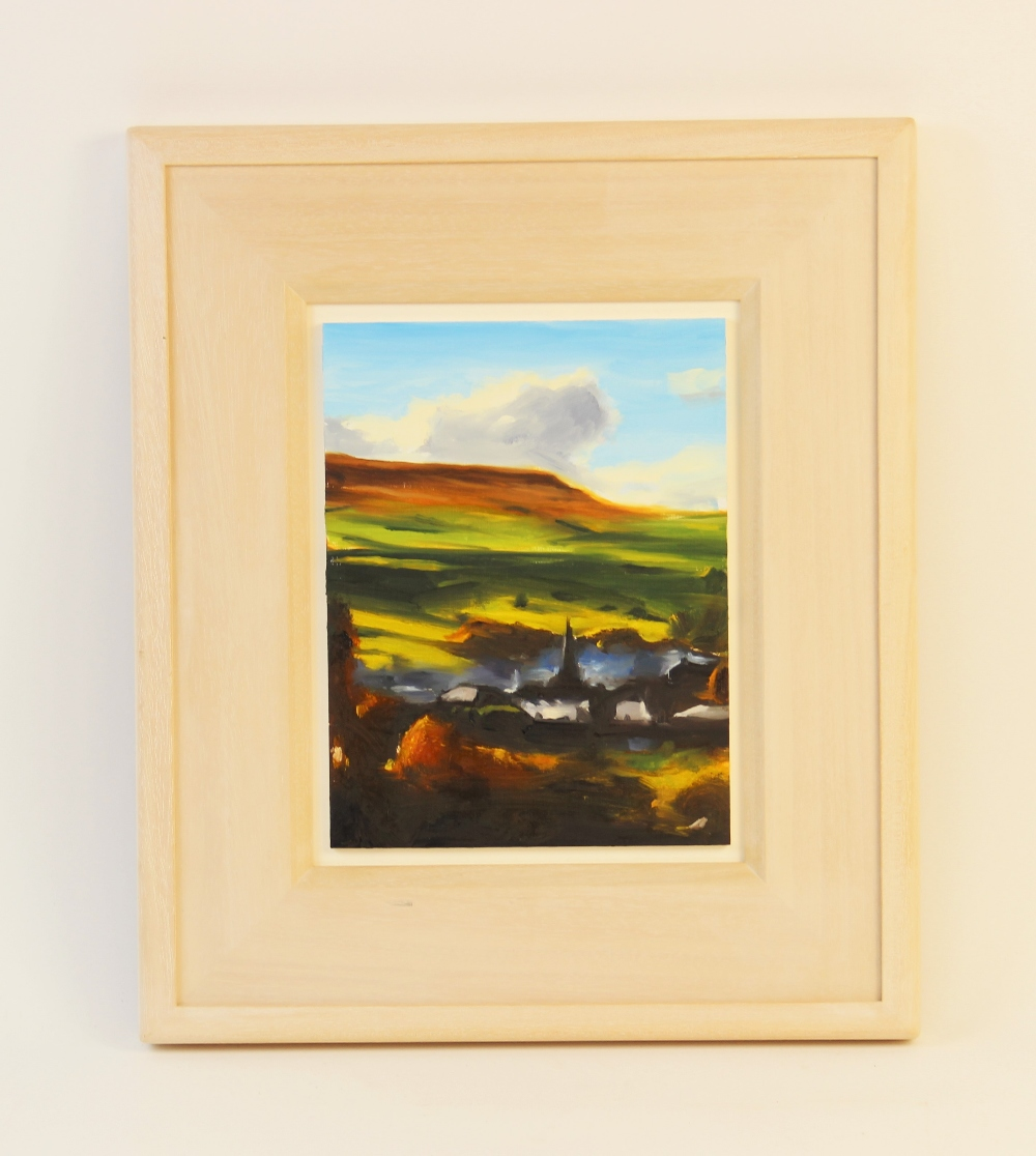 Liam Spencer (Contemporary British, b1964), 'Waterfoot' (2005), Oil on board, Titled and signed - Image 2 of 3