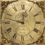 A mid 18th century oak cased thirty hour longcase clock, signed 'James Webster, Salop', the 29cm